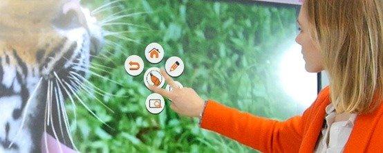 palette flottante pour ecran interactif
