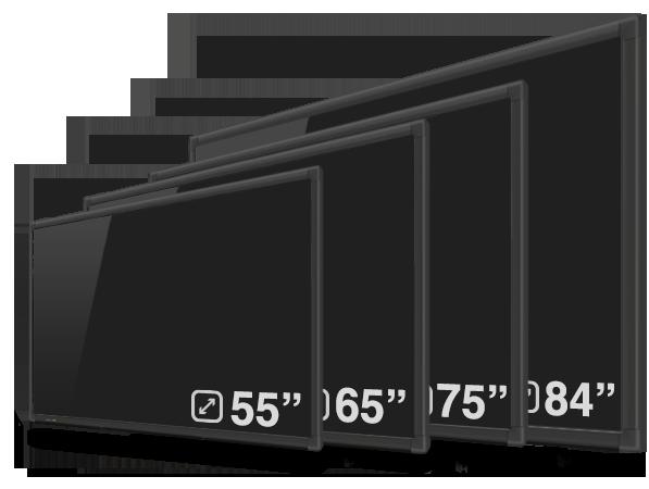 gamme complète des ecrans interactifs