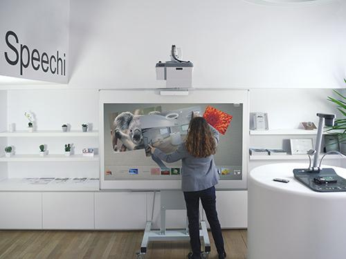 Vidéo-projecteur tactile et interactif