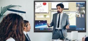 Ecran interactif pour réunions d'entreprise