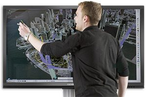 L'écran interactif pour les simulation d'avion / drone