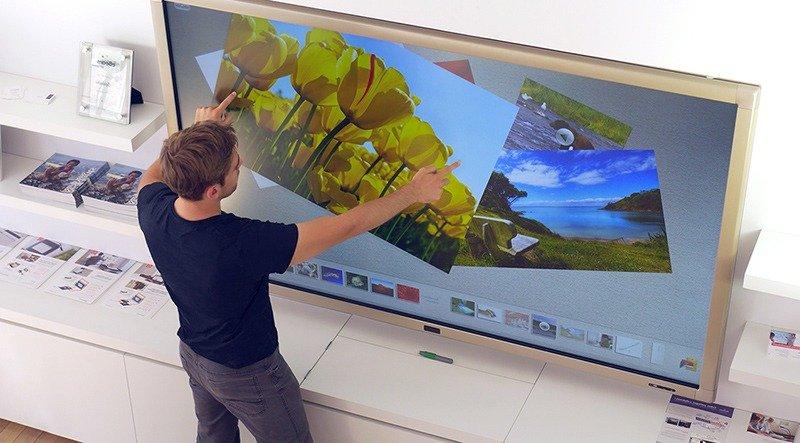 écran tactile de grande taille