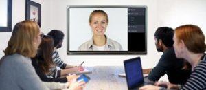 Écran interactif avec caméra intégrée