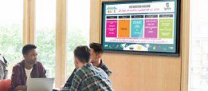 Écran interactif pour les gares