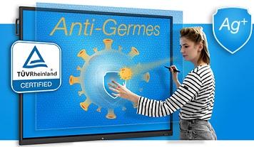écran tactile anti germes